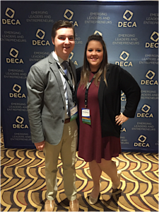 Alex Blevins and Nichole Marquis at DECA International Conference.